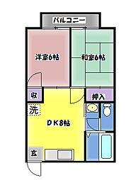シャルムビラ[1F号室]の外観