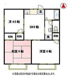 栄ハイツB[2階]の間取り