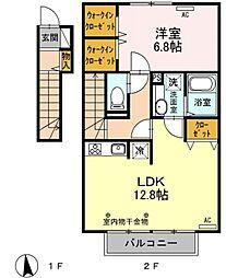 ディアレスト桜[2階]の間取り