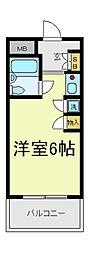 朝日プラザ天王寺パサージュ[8階]の間取り