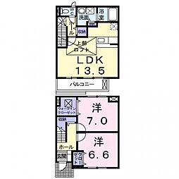 minoru[2階]の間取り