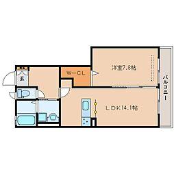 静岡県静岡市駿河区用宗巴町の賃貸アパートの間取り