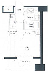 横浜関内プラッツ[202号室]の間取り