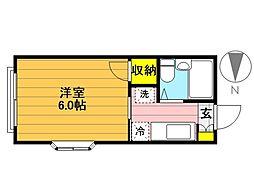 エリール富士見[301号室]の間取り