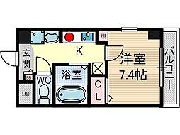クオーレ茨木元町[3階]の間取り