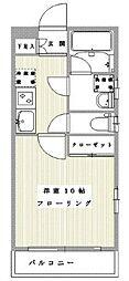 東京メトロ銀座線 三越前駅 徒歩7分の賃貸マンション 3階1Kの間取り