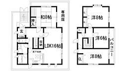[一戸建] 兵庫県川西市清和台東3丁目 の賃貸【/】の間取り