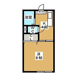 メゾンドール筒井[1階]の間取り