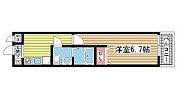 兵庫県神戸市中央区若菜通5丁目の賃貸マンションの間取り