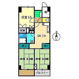 潮江マンション[2階]の間取り