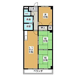 愛知県名古屋市千種区山添町1丁目の賃貸マンションの間取り