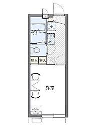 レオパレスYUTAKA S[203号室]の間取り