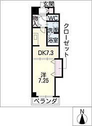 Arsa上飯田[6階]の間取り