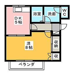 シェモアII[1階]の間取り