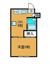 大野屋ビル[3階]の間取り