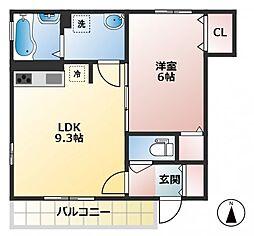 東京都調布市仙川町3丁目の賃貸アパートの間取り