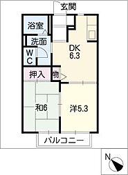 ディアコートC棟[1階]の間取り