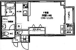 香川県高松市松島町1丁目の賃貸マンションの間取り