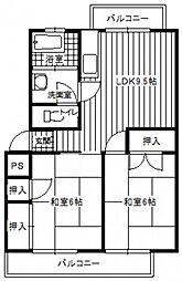 第2西山ビル[4階]の間取り