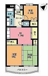 富士ニューハイツ[2階]の間取り