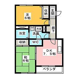 リアナ清須アパートメント[3階]の間取り