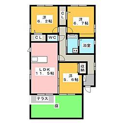 [一戸建] 静岡県浜松市南区飯田町 の賃貸【/】の間取り