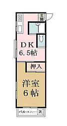 埼玉県八潮市大字鶴ケ曽根の賃貸マンションの間取り
