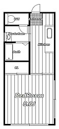 コスモス館[2階]の間取り
