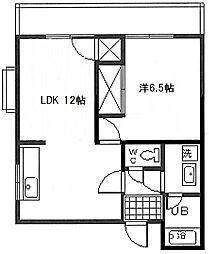 第5福富マンション[101号室]の間取り