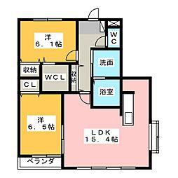 レジデンスALTAII[1階]の間取り