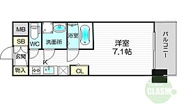S-RESIDENCE新大阪Luna 11階1Kの間取り