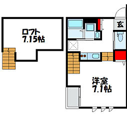 サニーガーデン福間[1階]の間取り