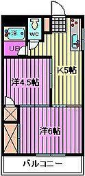 SUNRISE土屋[2階]の間取り