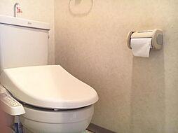 白を基調にした清潔感のあるトイレです