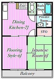 第3中川ハイツ[1階]の間取り