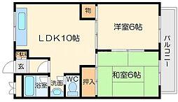 第5マンション北栄[4階]の間取り