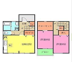 [テラスハウス] 茨城県つくばみらい市陽光台4丁目 の賃貸【/】の間取り