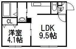 SUONO南円山[402号室]の間取り