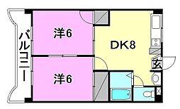 YTM中村[202 号室号室]の間取り