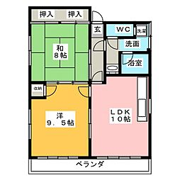 横井ビル[3階]の間取り
