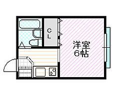 フレンズ京橋[2階]の間取り