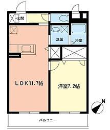 CREA湘南[3階]の間取り