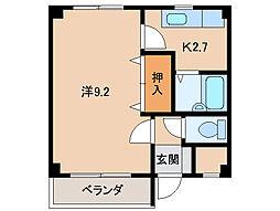 サンハイツ紀三井寺[1階]の間取り