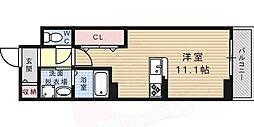 ROOMs六甲 1階ワンルームの間取り