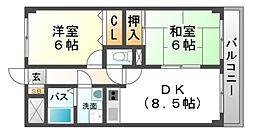 アウスブリックホーダ[2階]の間取り