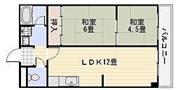 レナジア深井[307号室]の間取り
