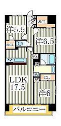 クレストフォルム柏サウスウイング113号室[1階]の間取り