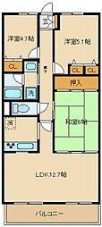 パークピア末広[2階]の間取り