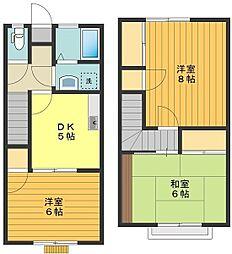 [タウンハウス] 東京都八王子市東浅川町 の賃貸【東京都 / 八王子市】の間取り