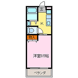 ウイング[1階]の間取り